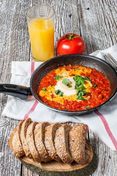 Shakshouka With Fried Egg.
