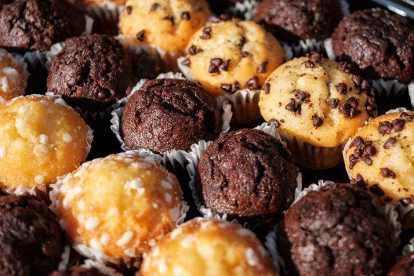 Many Mini Muffins On Dessert Buffet - Muffin Closeup