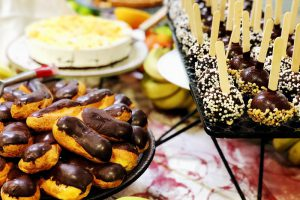 Sweet Cake And Dessert, Delicious Appetizers For Party.